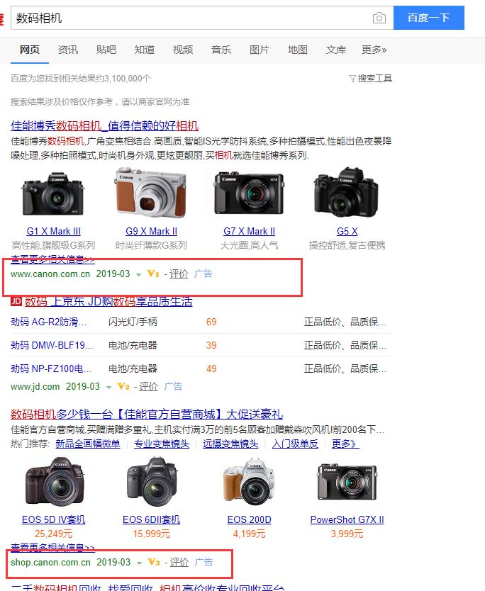 数码相机实例展示